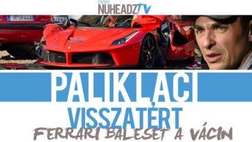 Összetört Ferrari a Váci úton